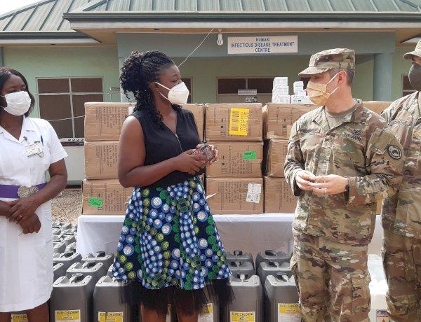 A/R: U.S. Embassy Ghana and AFRICOM Donate PPE and Medical Supplies to Kumasi South Regional Hospital