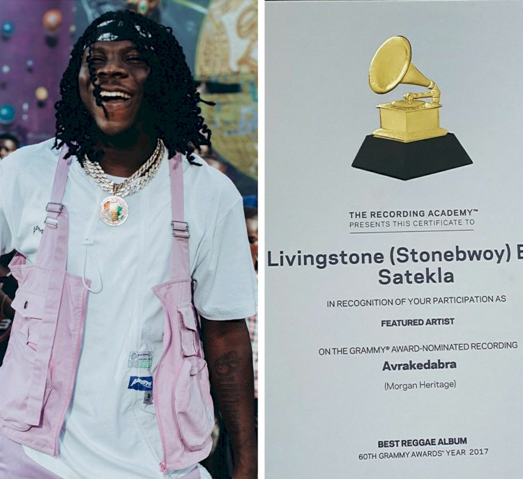 Stonebwoy Finally Receives Grammy Awards Citation