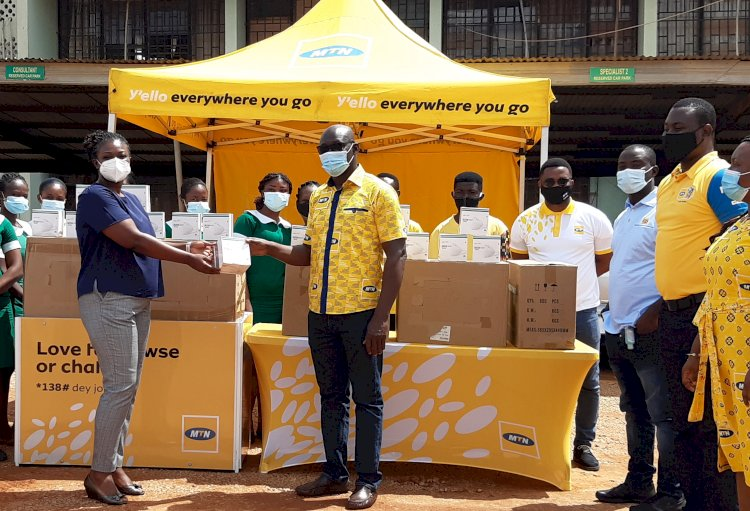 COVID-19: Ksi. South Reg. Hospital Benefits from MTN Ghana Donation