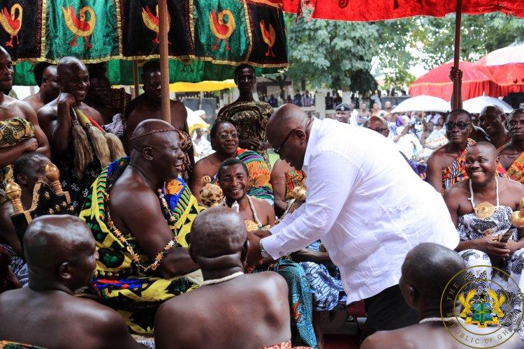 Prez Akufo Addo joins Nananom to Celebrate Akwasidae