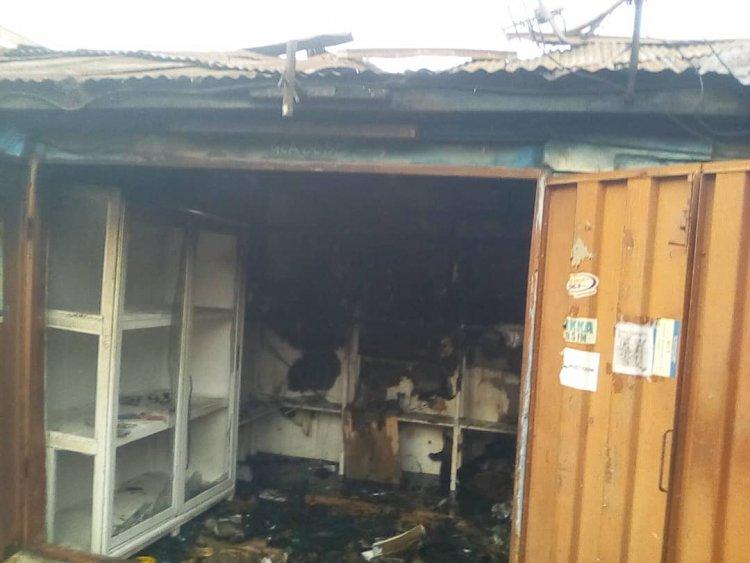 A/R: Fire Guts 3 shops and 7 rooms at Bantama