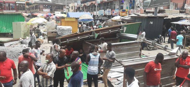 Ghana Electrical Dealers Association Stalls Demolished In Accra