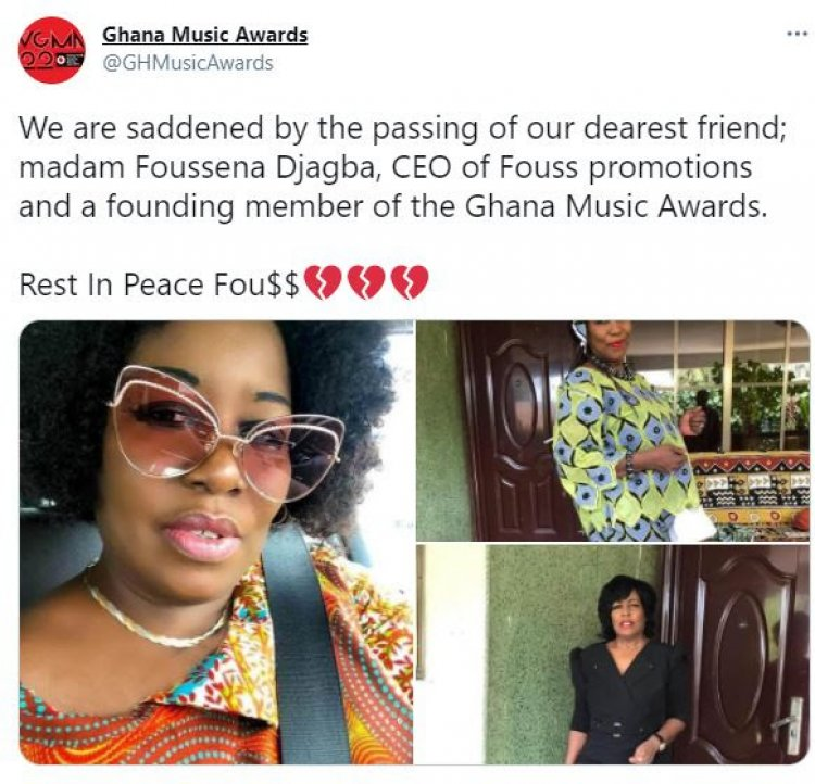 CEO Of Fouss Promotions, Foussena Djagba Is Dead