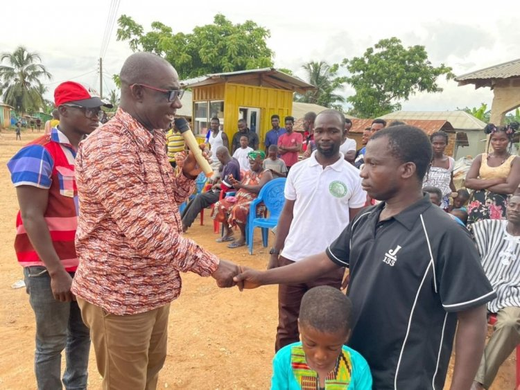 Upper Denkyira West MP Donates $1000.00 For The Surgery Of A Boy With A Hole in His  Heart