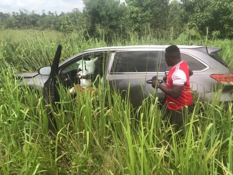 Kwabena Kwabena Involved In An Accident With His Manager