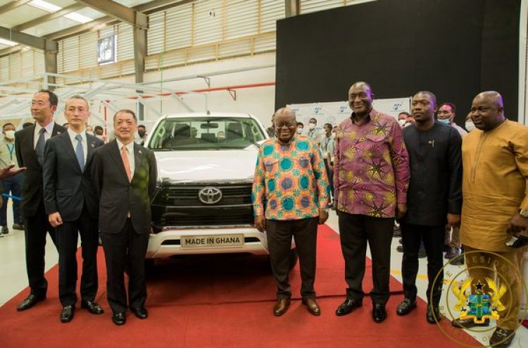 Toyota Commissions Vehicle Assembly Plant In Ghana