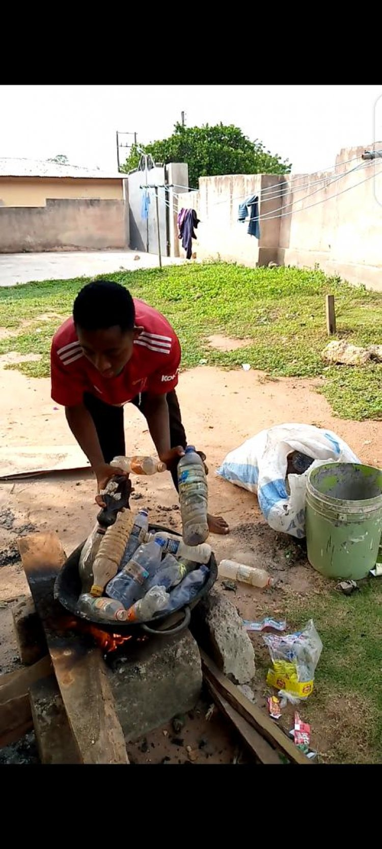 Pavement Bricks Made From Both Plastic Bottles And Polythene Bags