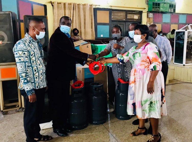 Home Economics Equipment Donated To OKESS Ahead Of Final Exam