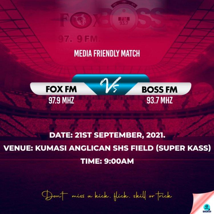 Media Friendly Football Match : Fox Fm Hosts Boss Fm At Super KASS SHS Field