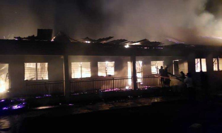 Fire Guts Nhyinahin Catholic Senior High Technical School Boys Dormitory
